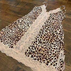 Victoria's Secret Cheetah Print Lace Slip Small